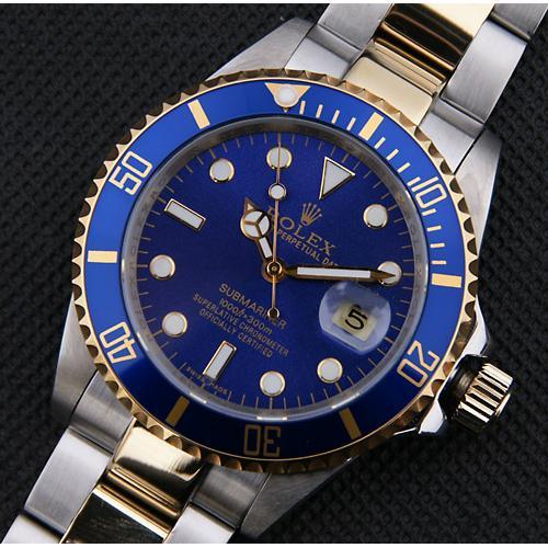sub    k间黄金电镀 陶瓷数字边框 蓝色表盘 eta-2836机芯 最佳1